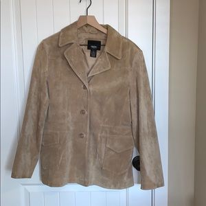 Mossimo brown suede jacket.